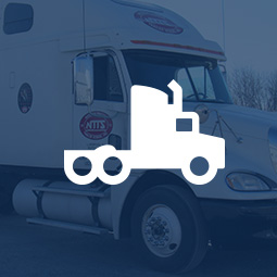 Trucking image with truck icon