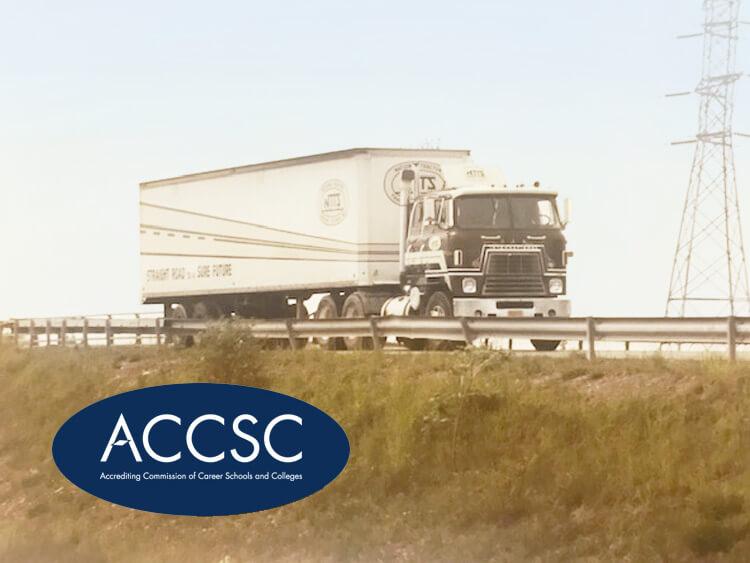 80s NTTS training truck driving on highway