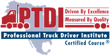 logo of Professional Truck Driver Institute certification