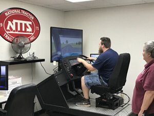 image of CDL training simulator at NTTS
