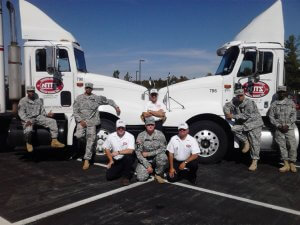 Veterans at Fort Drum for CDL Training in 2010
